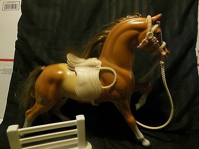 Barbie/bratz Doll Horse Two Colored With Saddle