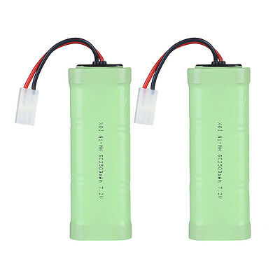 2-Pack 7.2V 3000mAh NiMH Battery for RC Car Helicopter Boat Truck -Tamiya Plug