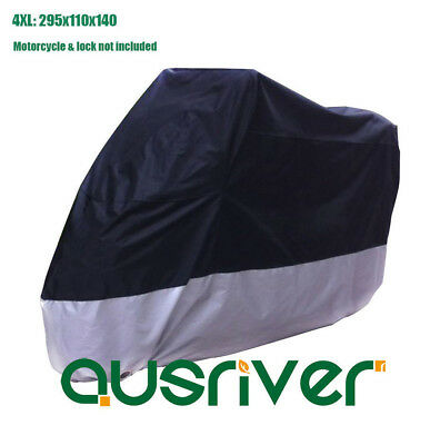 Extra Large 4XL 295x110x140 UV Resistant Waterproof Motorbike Cover for Suzuki