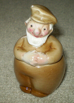 Vintage 1956 2 Piece Fisherman Goebel Mustard/cruet Pot
