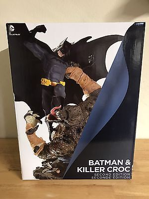 DC Classic Confrontations Batman Vs. Killer Croc Statue (Second Edition) NEW MIB