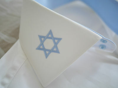 Magen david / star of david white fitted shirt size M