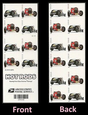 US 4908c-4909c Hot Rods imperf NDC booklet 20 MNH 2014
