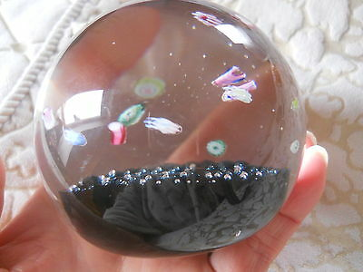 Rare Vintage Caithness Paperweight with Millefiori Canes Decoration CIIG