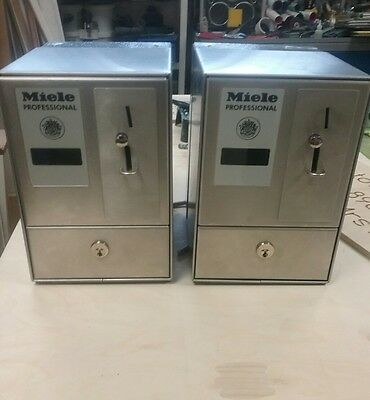 2 Miele Coin Operated Prepayment Meters Washing/ Tumble Dryer Timer £1.00 Coins