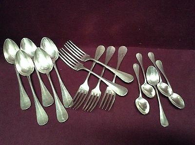 VINTAGE CHRISTOFLE FIDELIO  Flatware 5 ea Dinner Forks, Soup Spoons and Spoons