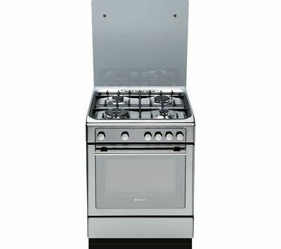 HOTPOINT DHG65SG1CX Gas Cooker - Stainless Steel - Currys