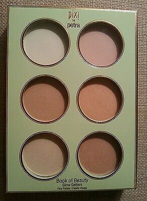New Pixi Book Of BEAUTY Glow Getters Highlighter Face Palette 6 Shades