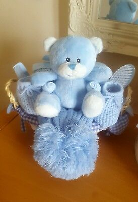 New baby blue boys gift hamper