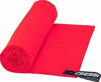 Cressi Microfibre Fast Drying Beach Towel  - 160x80 cm - Red