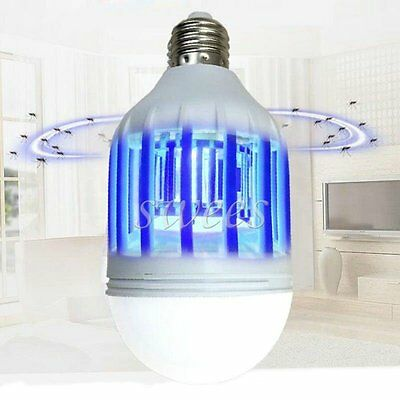 LED 12W 1000LM Electronic Insect Fly Lure Mosquito Killer Lamp Bulb UV Light