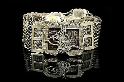 Antique Original Perfect Full Silver Gold Plated Amazing Ottoman For Lady Belt