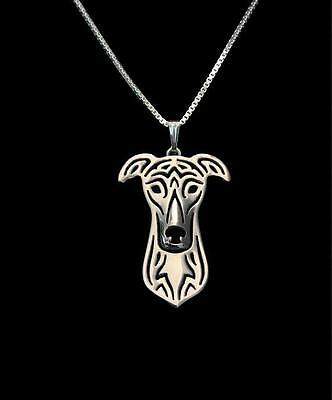 Greyhound  Pendant Necklace Silver ANIMAL RESCUE DONATION
