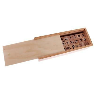 Kids Educational Toy Montessori Wooden Alphabet Letter Box A-Z/a-z Xmas Gift