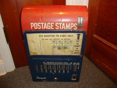 1950's VINTAGE U.S. POSTAGE STAMP COIN VENDING MACHINE