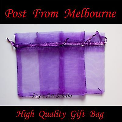 30/50/100 PCS Purple Organza Bags Wedding Gift Pouch Bag Jewelry Packing MED