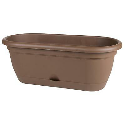 Bloem Lucca Chocolate Plastic 12 Inch Self Watering Planter 24 49