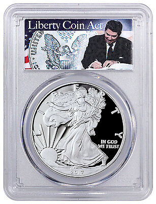 2017-W American Silver Eagle PCGS PR70 DCAM FS (Liberty Coin Act Label) SKU47022