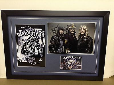 Motorhead Genuine Hand Signed/Autographed Photograph with a poster and a COA