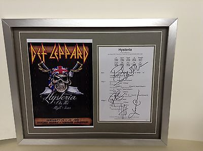 Def Leppard  Hand Signed/Autographed Songsheet with a Photograph with COA