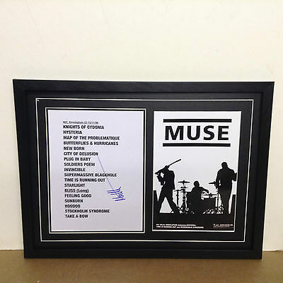 Muse Hand Signed/Autographed Songsheet with a Photo & COA