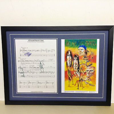 Red Hot Chili Peppers Hand Signed/Autographed Songsheet and COA
