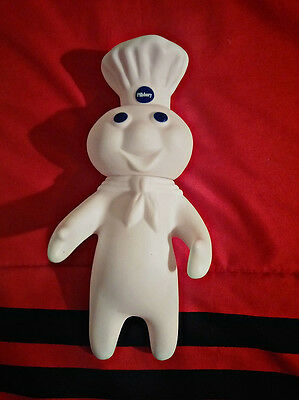"Vintage New old stock 7"" Pillsbury Dough Boy rubber figure poseable head 1971"