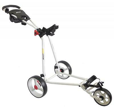 Bullet White 5000 Deluxe 3 Wheeled Folding Golf Trolley Roller Cart XBU420309