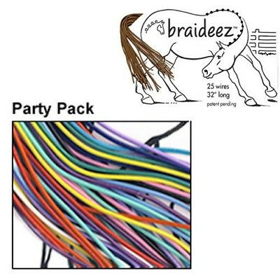 Braideez Wire Braiding Bands Shape Horse Show Braids without Sewing Party Pack
