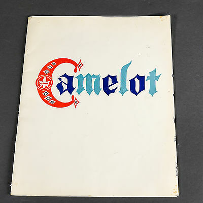 """""""camelot"""" (Starring Julie Andrews) 1962 Broadway Theater Play Program"""