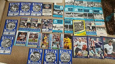 bolton wanderers football programme collection x 63 home and away 1972 -1997