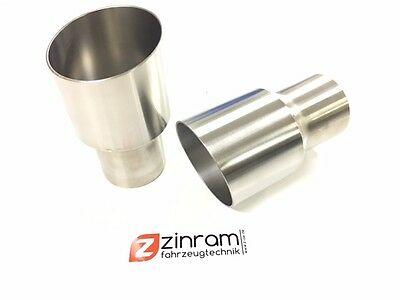 Zinram Stainless steel End pipe Tail pipes Tailpipes Ø3in auf Ø3 1/2in