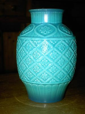 "BESWICK Turquoise Cathay Vase 2392 7 1/4"" Tall In V.G.C. Free UK Postage"