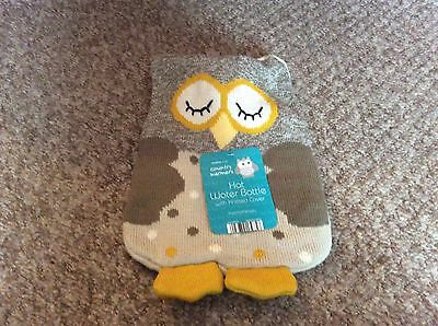 Bnwt Country Club Hot Water Bottle With Knitted Owl Cover