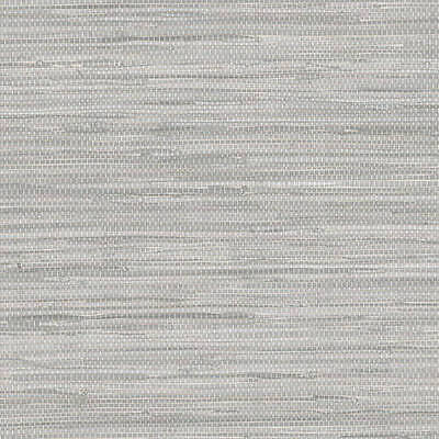 Grey Faux Grasscloth Wallpaper NT33705 DOUBLE roll  FREE SHIPPING