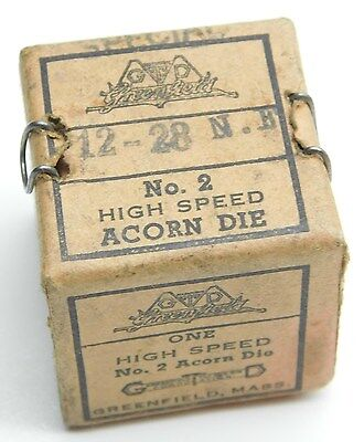 NOS Greenfield ACORN Die 12-28 NF in Box