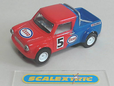 SCALEXTRIC Based SCRATCHBUILT MINI COOPER PICK-UP #5 (EXCELLENT) RED / BLUE