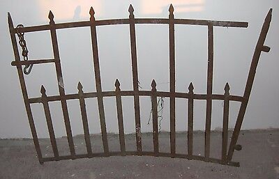 "Reclaimed Victorian Single Wrought Iron Park Estate Garden Side Gate 48"" Wide"
