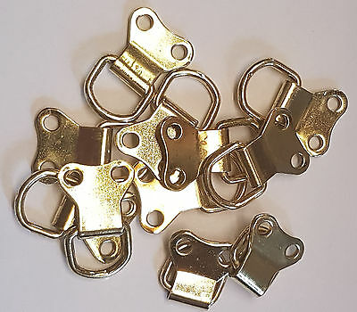 Large Brass Plated Double D Rings - Assorted Quantity - Picture Framing - Hooks