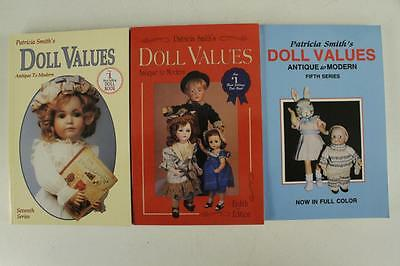 Vintage PB Book Lot 3PC DOLL VALUES by Patricia Smith 5th 7th & 8th Series Color