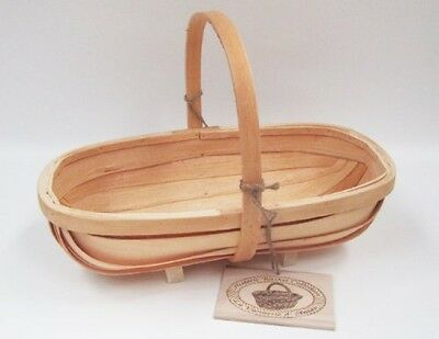 Traditional Wooden Sussex Trug By Fallen Fruits, 42cm X 23cm