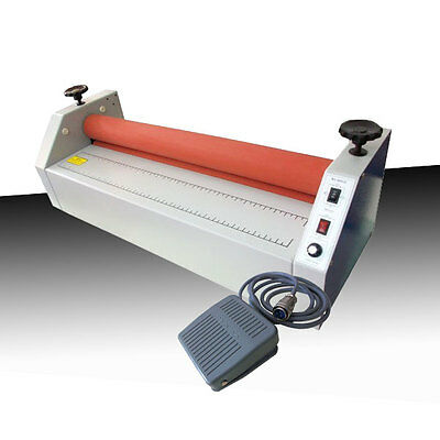 "650mm (25.6"") desktop electric Cold laminator Laminating with Foot Pedal 110V"
