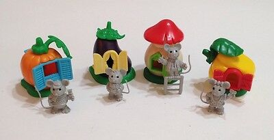 1997 Kinder Surprise Toy MINIATURE SET MICE AND VEGETABLE HOUSES FERRERO