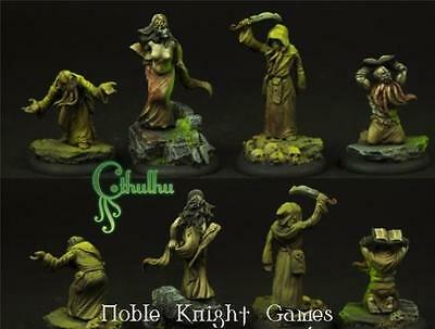 Scibor Monstrous Miniatures Cthulhu Mini 28mm Cultist Set Pack MINT