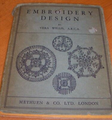 1930s EMBROIDERY DESIGN BOOK BY VERA WILLIS A.R.C.A.