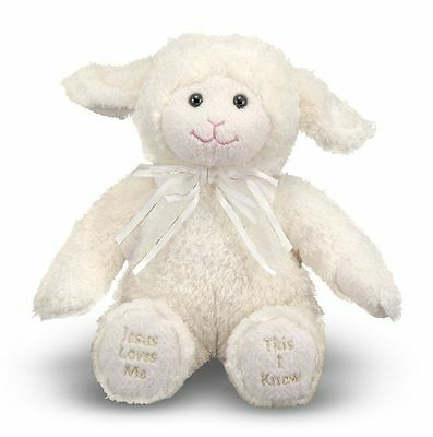 Melissa & Doug Jesus Loves Me Lamb Plush - Stuffed Animal With Sound Effects