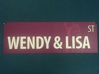 2009 PHISH Festival 8 Campground Street Sign WENDY & LISA ST Prince Purple Rain