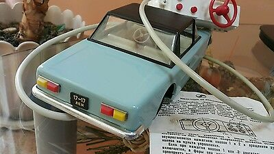 VINTAGE TIN TOY CAR BATTERY OPERATED RUSSIA USSR 70's SOVIET CCCP INSTRUCTION