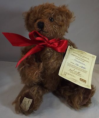 "Modern 11"" Dean's Mohair Jointed Teddy Bear 'nicholas' Collector's Club Ltd. Ed."