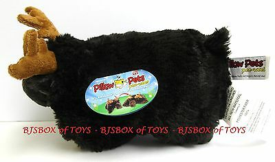 """Pillow Pets Pee-Wees Choclate Moose 11"""" Soft Cute Cuddly Stuffed Toy New NWT"""